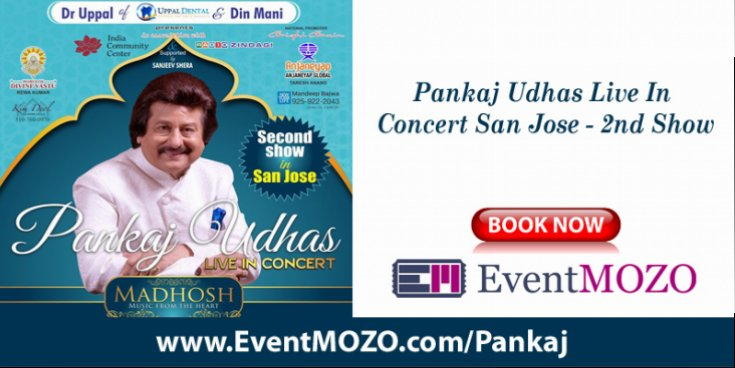 Bright Brain announces the second show of Pankaj Udhas Live Concert in San Jose
